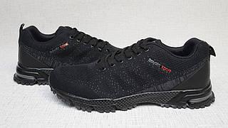 Кроссовки из сетки Bayota А201 чёрные