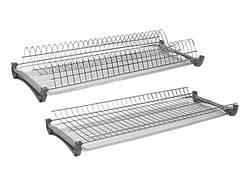 Сушка для посуду Т1 фасад 400 GIFF хром (2 полиці, 2 піддона і 4 кріплення)