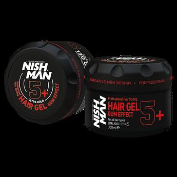 Гель для укладки волос Nishman Gum Effect 5+ 300мл