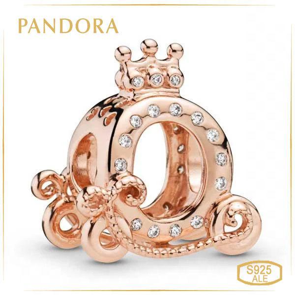 Пандора Шарм Сяюча карета з короною Rose Позолота Pandora 788129CZ