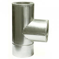 Ø300/360 Тройник 87* к/оц 0,8мм нержавеющая AISI 304 сталь