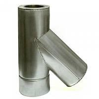Ø130/200 Тройник 45* к/к нержавеющая AISI 304 сталь