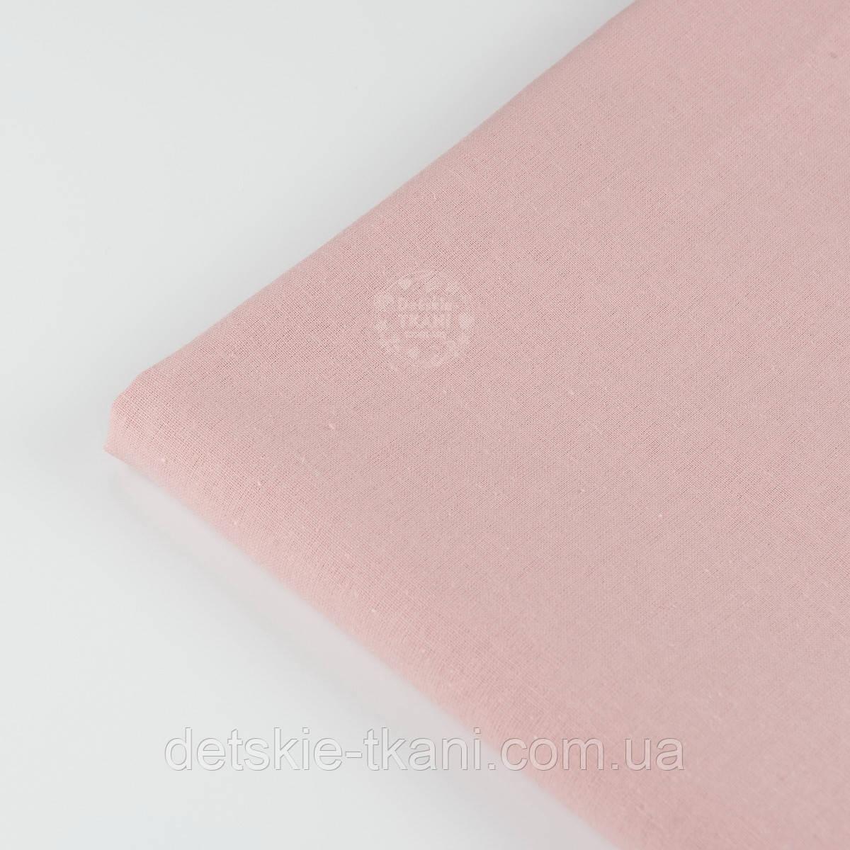 Лоскут ткани грязно-розового цвета, №1350а, размер 32*80 см