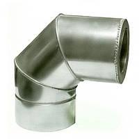 Ø400/460 Колено 90° к/к нержавеющая AISI 304 сталь