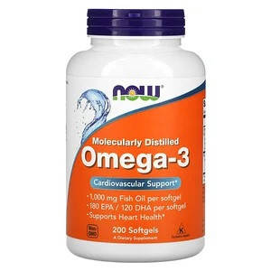 NOW OMEGA 3 (200 капсул) Риб'ячий жир-концентрат у капсулах по 1000мг