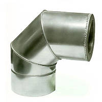 Ø350/420 Колено 90° к/к 1мм нержавеющая AISI 304 сталь