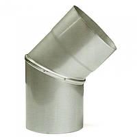 Ø160 Колено 45°, 08 мм нержавеющая AISI 304 сталь