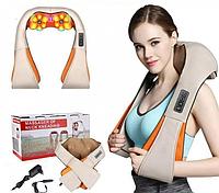 Массажер-пояс шиацу для спины шеи и плеч с подогревом электрический универсальный