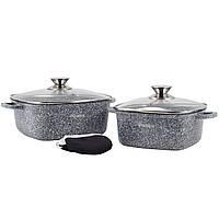 Набор посуды Ofenbach 5 предметов с прихватками (кастр.20см,24см) KM-100508, фото 1