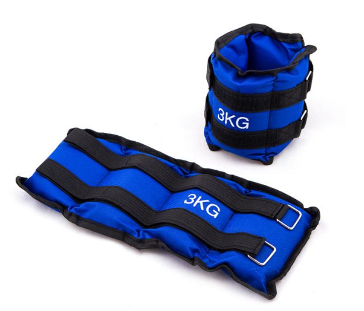 Утяжелители для ног 3 кг (2*1,5 кг), синий, грузы для ног