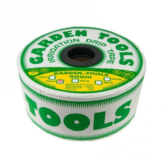 Щілинна крапельна стрічка Garden Tools 45 см 6 mil 300м