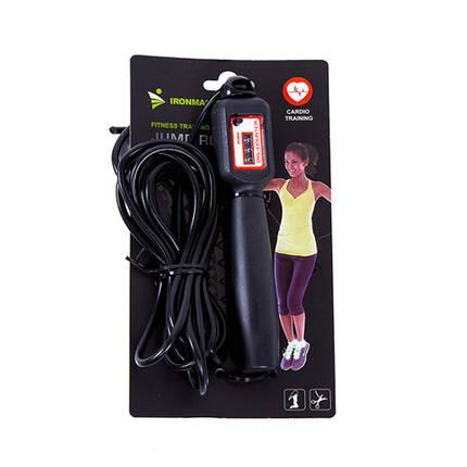 Фітнес скакалка з лічильником для фітнесу і спорту, IronMaster 2.75 м, канат PVC, фото 2
