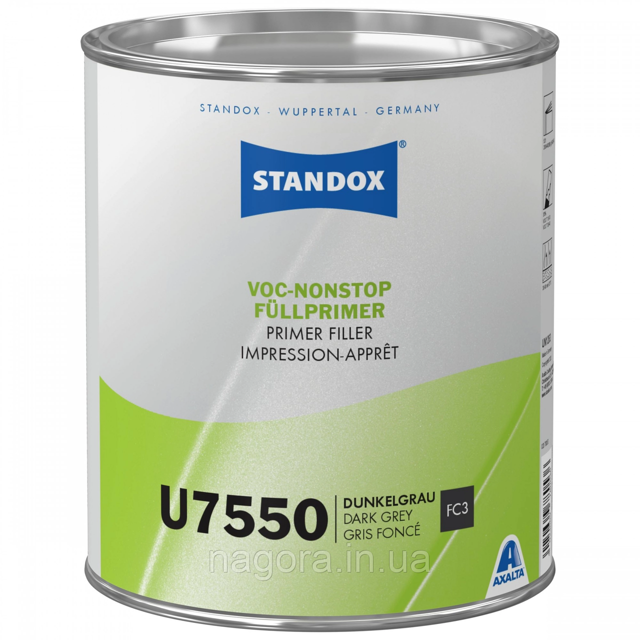 Грунт-наполнитель Standox VOC Nonstop Primer Filler U7550 Dark Grey (3.5л)