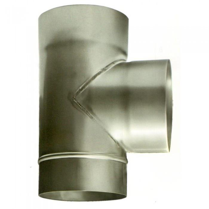Ø140 Тройник 87* 08 мм нержавеющая AISI 304 сталь
