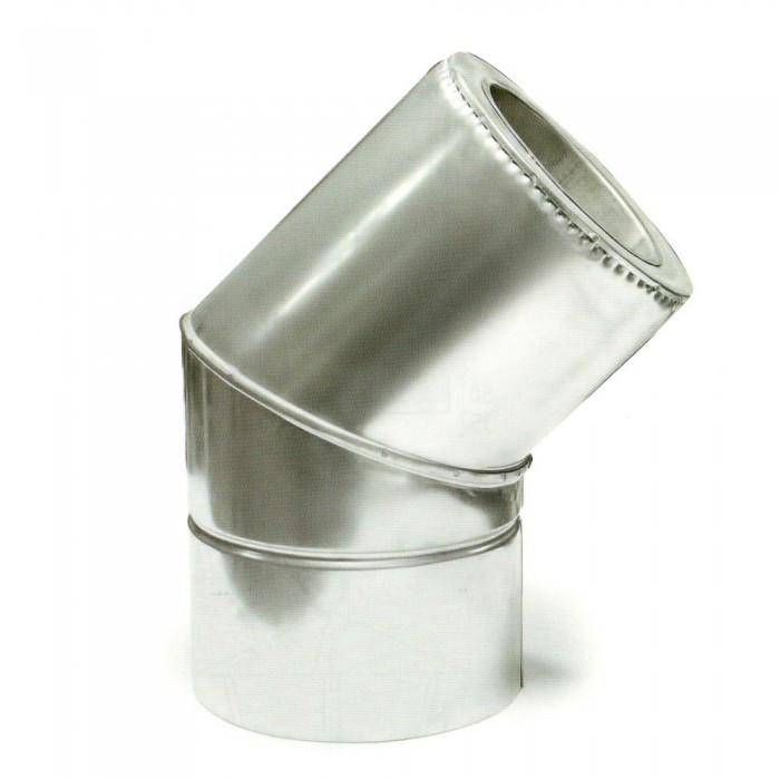 Ø350/420 Колено 45° к/к 1мм нержавеющая AISI 304 сталь
