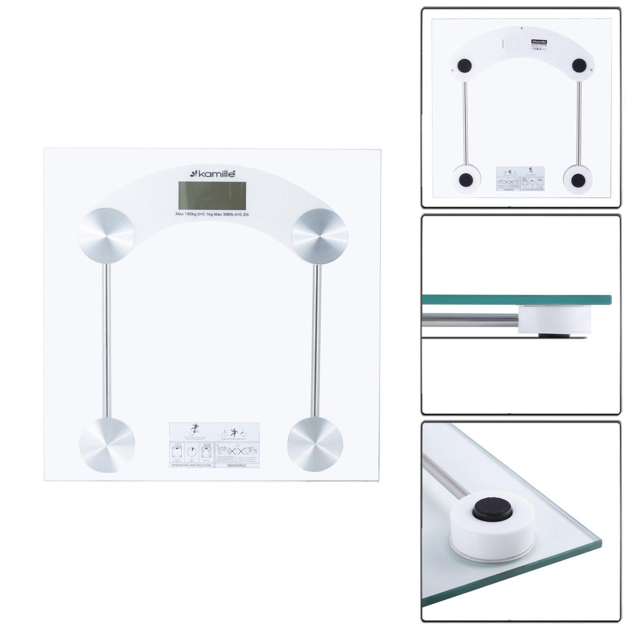 Весы напольные Kamille электронные 30см KM-7112