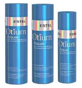 Набір для інтенсивного зволоження волосся (шампунь, бальзам, спрей) Estel Professional Otium Aqua 250/200/200 мл