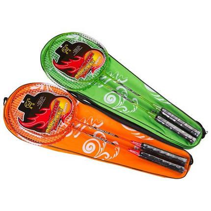 Ракетки 2 штуки  для бадминтона в чехле + Подарок воланчик, фото 2