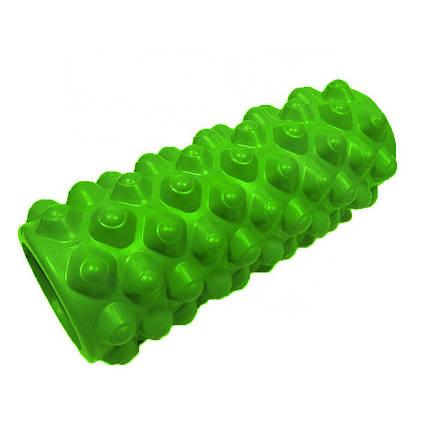 Массажный валик (ролик) для йоги и фитнеса / Пенный массажный ролл 33*14 см, фото 2