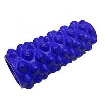 Массажный валик (ролик) для йоги и фитнеса / Пенный массажный ролл 33*14 см, фото 3