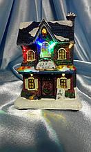 """Новогодний домик со светодиодами """"Магазин подарков"""""""