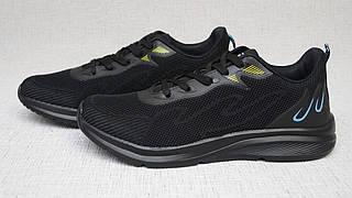 Кросівки 2117 зі щільної сітки чорні