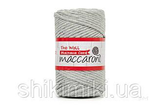 Еко шнур Macrame Cord 3 mm, колір Світло Сірий