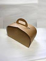 Упаковка для шматочків торта, тістечок та інших виробів, 120х210х110 мм, крафт СД02-04