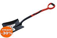 Лопата совковая Intertool - 238 x 282 x 1050 мм ручка фибергласс 1 шт.