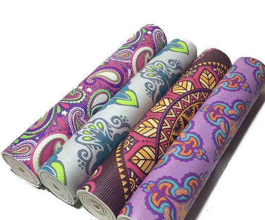 Коврик 5 мм для йоги и фитнеса, аэробики, цвета в наличии. + Подарок чехол, фото 2