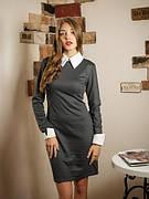 Деловое женское однотоное платье