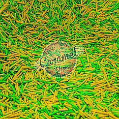 Посыпка пасхальная микс зеленый  Вермишель, палочка  1кг