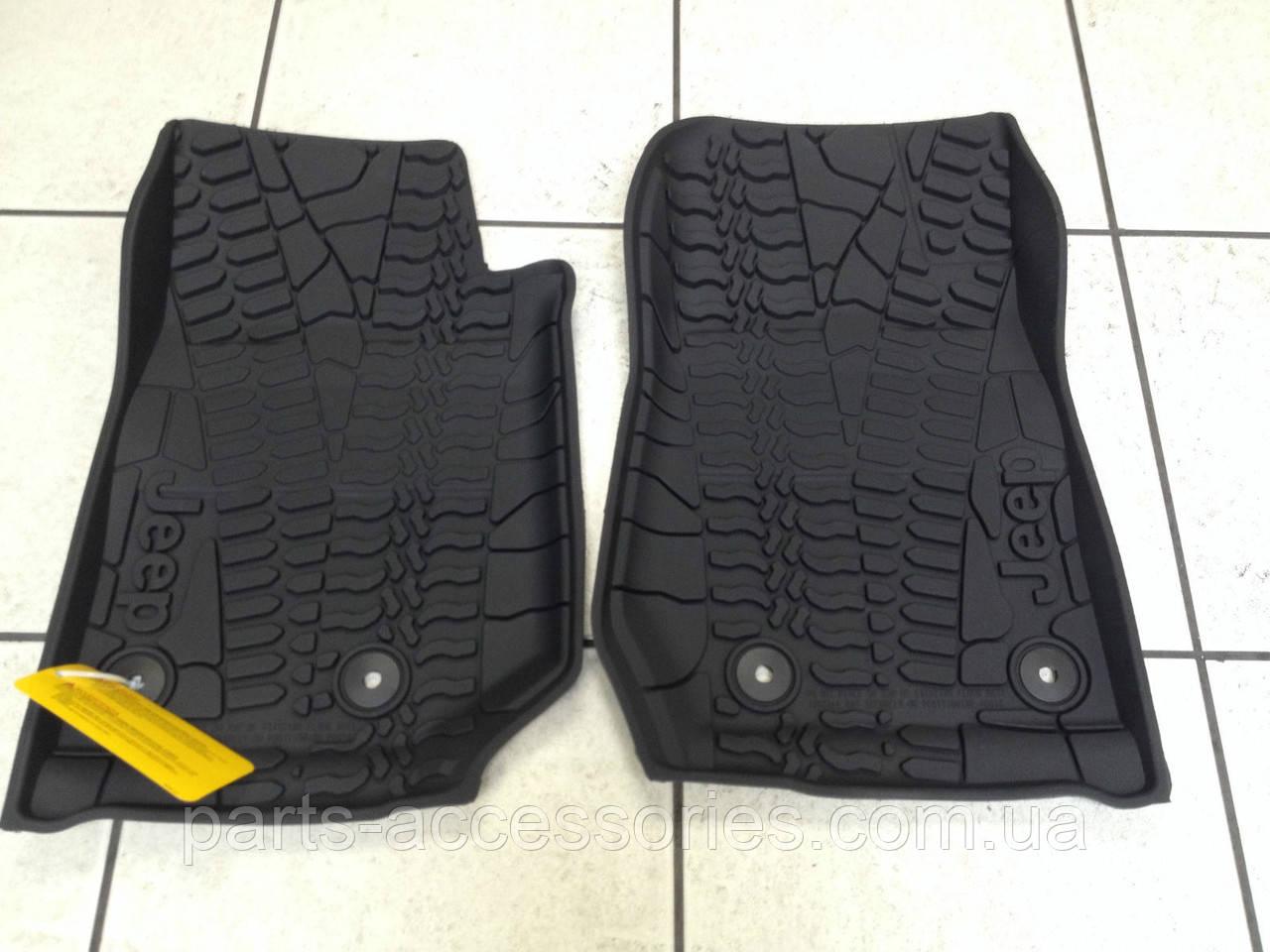 Jeep Wrangler 2014-16 коврики резиновые новые оригинальные