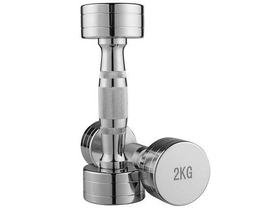 Хромова гантель цілісна, 2 кг, 1 шт., фото 2