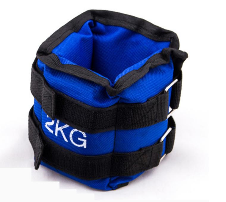 Утяжелители для ног 2 кг (2*1 кг), синий, грузы для ног
