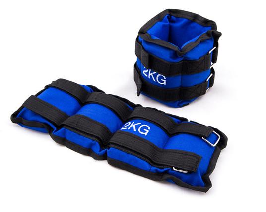 Утяжелители для ног 2 кг (2*1 кг), синий, грузы для ног, фото 2