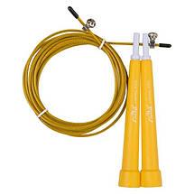 Фітнес скакалка для кроссфита, фітнесу Cima 3м, ручка PVC, кольори жовтий, чорний, синій, помаранчевий, фото 2