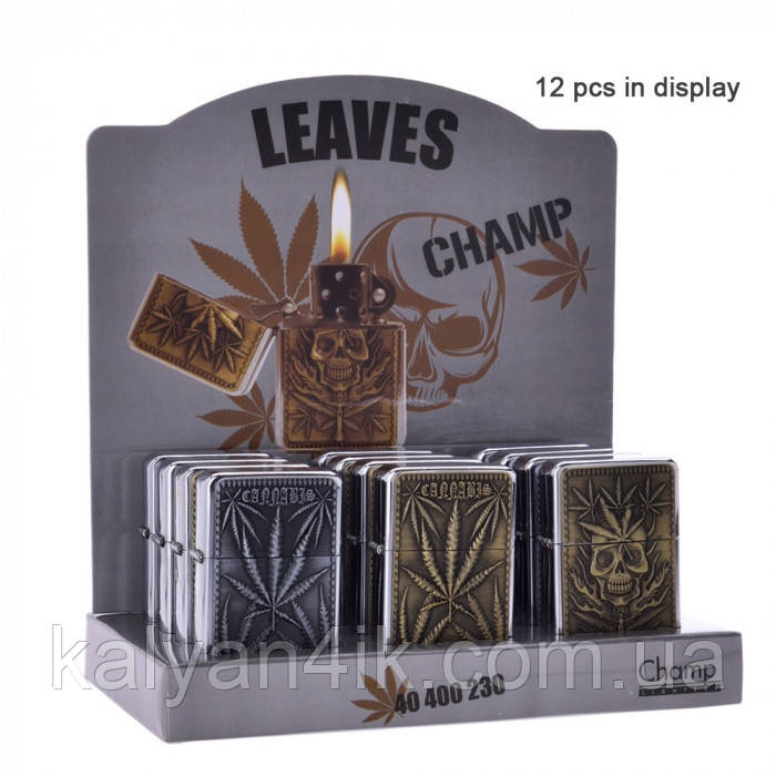 Запальничка Champ | Zippo with Leaf logo's