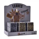 Запальничка Champ | Zippo with Leaf logo's, фото 2
