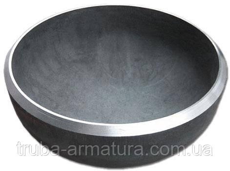 Заглушка сталева еліптична приварна Ду 125 (139х4), фото 2