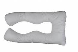 U-образная подушка для беременных, размер 110х58х10, цвет серый