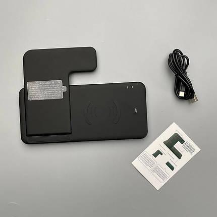 Беспроводная зарядка док-станция oneLounge Wireless Station 4 в 1 для iPhone   Samsung   Apple Watch   AirPods, фото 2