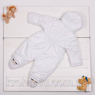 """Дитячий демісезонний комбінезон """"Міккі"""" 0-6 міс - осінньо-весняний комбінезон для немовляти, фото 2"""