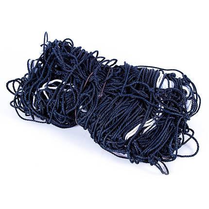 Волейбольная сетка хлопковая, веревка D=3,8 mm, ячейка 15*15 cm, фото 2