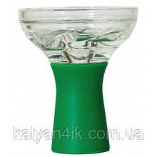 Чаша Стеклянная На Силиконовой Ножке Зеленая