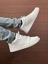 Баскетбольні кросівки Air Jordan 1 Retro Low White, фото 3