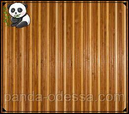 """Бамбукові шпалери """"Смугасті 3+1"""", 1 м, ширина планки 8/8 мм / Бамбукові шпалери"""
