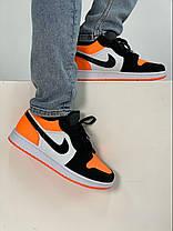 Баскетбольні кросівки Air Jordan 1 Retro Low Black/Orange, фото 3
