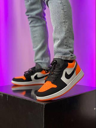 Баскетбольні кросівки Air Jordan 1 Retro Low Black/Orange, фото 2