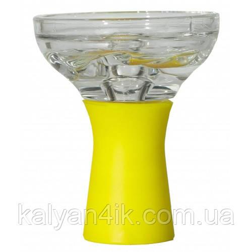 Чаша Стеклянная На Силиконовой Ножке Желтая